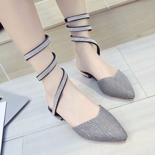 54da438cefa 2019 Womens Fashion Sandals Faux Jewels Beads Winding Flat Sandal for Women  Shoes Girl Cool Boots