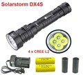 Solarstorm DX4S CREE L2 LED Diving Flashlight Underwater Torch Brightness Waterproof White Light Led Torch  with 26650 6800mah