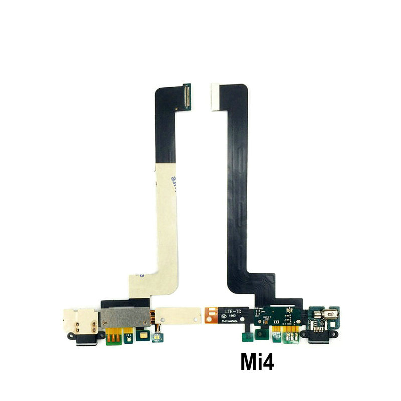 New Microphone Module+USB Charging Port Board Flex Cable Connector Parts For Xiaomi Mi4 Mi4C Mi4i Mi4S Replacement