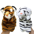 Hand Finger Puppet Toys Plush Cute Tiger Doll Cartoon Animal Gift For Baby Kids
