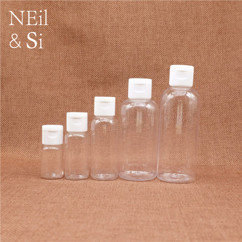 10ml 15ml 30ml 50ml 60ml 100ml Empty Plastic Cosmetic Bottle Refillable Flip Cap Shampoo Body Lotion Cream Bottles Free Shipping