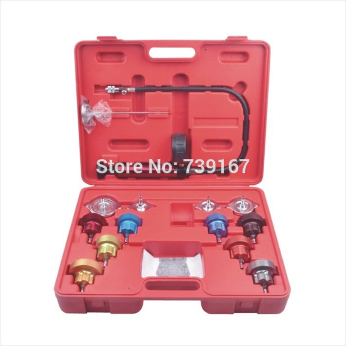 Car Radiator Water Tank Pressure Leak Diagnostic Tester Tool Kit For Japanese Korean Chinese American European Cars ST0174  cr508 diesel common rail pressure tester and simulator for bosch delphi denso sensor test tool diagnostic tools high pressure