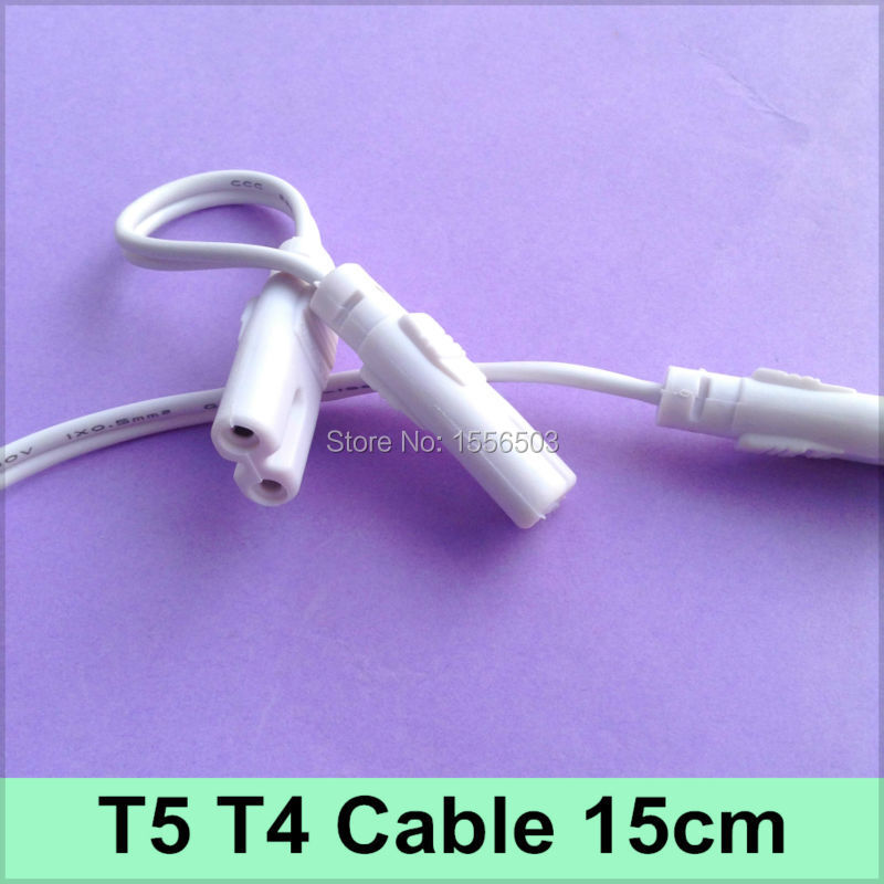 5 PCS Tube Light T4 T5 Connector 15cm Cable 2 holes For ...