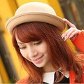 Kesebi 2017 New Hot Fashion Female Small Round England Caps Hats Women Woolen Korean Candy Color Dome Cute Lovely Fedoras