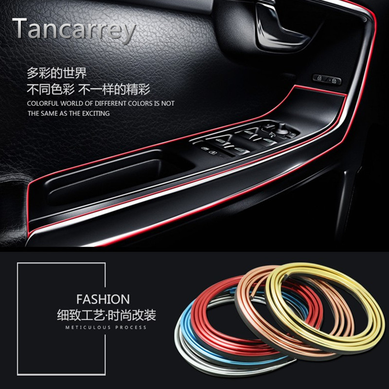 5M Interior Decoration Strip Car Styling Sticker For <font><b>mustang</b></font> honda accord <font><b>2015</b></font> cruze mazda 3 honda civic lexus is <font><b>Accessories</b></font> image