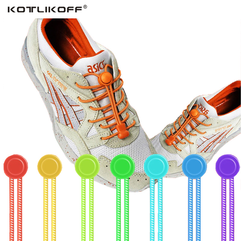 KOTLIKOFF Locking no tie lazy shoeLaces sneaker elastic Shoelaces children safe elastic shoe lace cordones Shoe accessories darseel shoe accessories shoelaces hbf