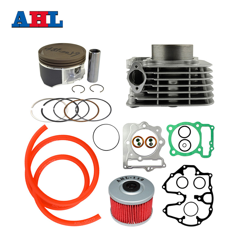 Motocycle Part For Honda XR400 Bore Size 85mm Air Cylinder Block & Piston Rings & Gasket & Fuel Hose & Oil / Gasoline Filter Kit piston assy 68mm for honda gx200 6 5hp enges free shipping cheap kolben w rings wrist pin