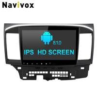 Navivox 10.1 ''Android 8.1.0 Автомобильный GPS стерео аудио плеер для Lancer 2007 2015 RAM2G навигация SWC RDS BT WI FI 4 г HD1080P