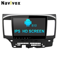 Navivox 10.1inch 2 Din Android 8.1 Car Multimedia Player For Mitsubishi Lancer 2007 2016 Car DVD GPS Navigation SWC RDS BT WIFI