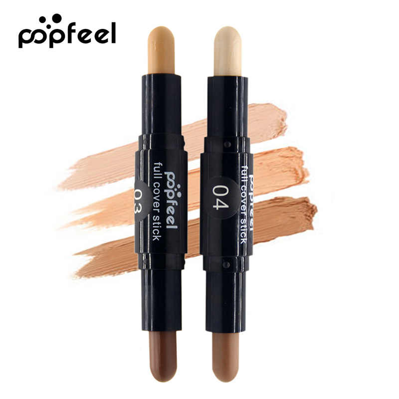 Double-End Concealer Stick Facial Makeup Foundation Make Up Foundation Pensil Make Up 3D Wajah Korektor Stabilo Krim Pena Kontur Krim