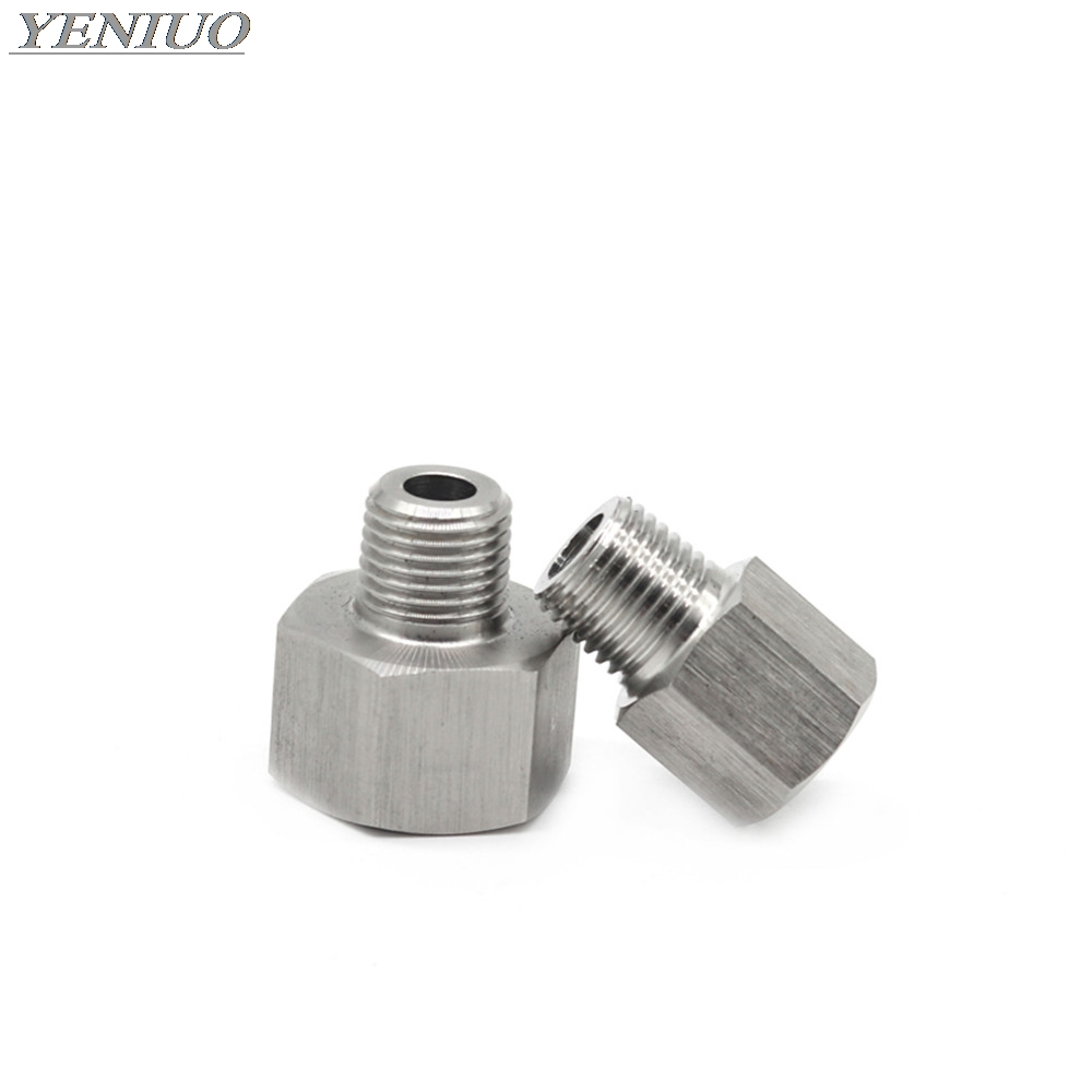 Pressure Gauge 304 Stainless Steel Pipe Fitting Connector Adapter Female To Male Threaded