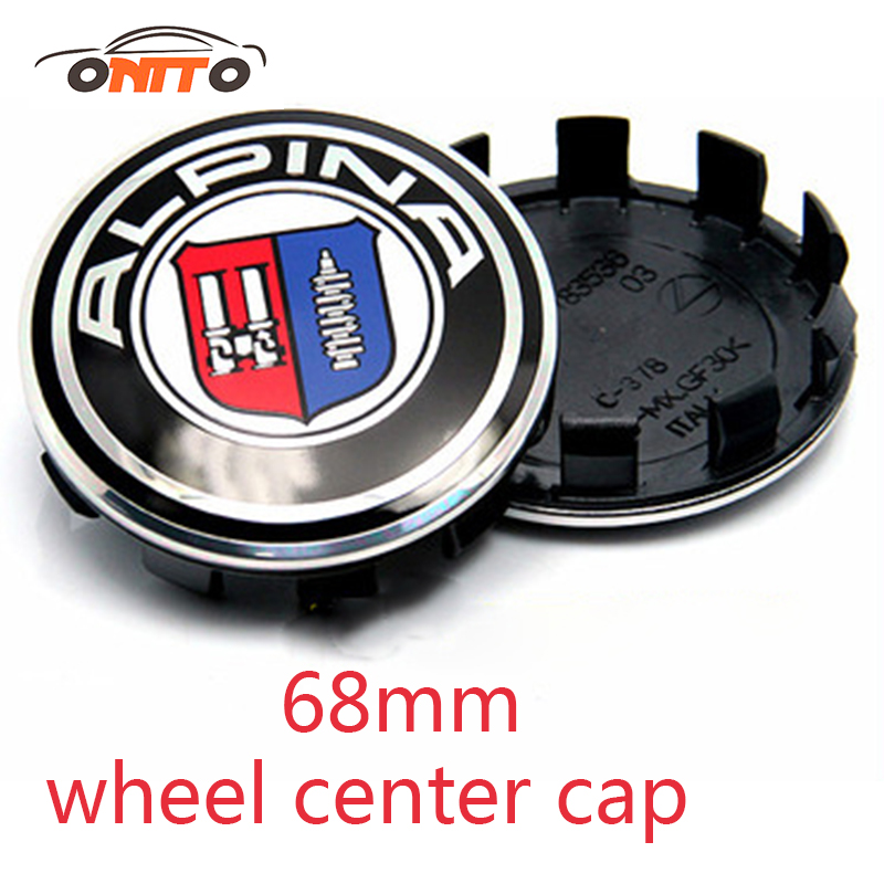 Image 2 - 20pcs /lot 10clips car wheel hub logo cap For bmw auto wheel center emblem cover 68mm label abs badge 10pins cat styling-in Wheel Center Caps from Automobiles & Motorcycles