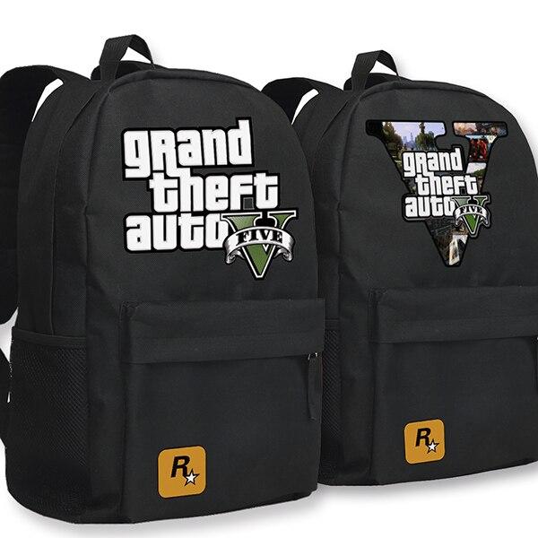 New Fashion Grand Theft Auto მამაკაცის ტილო - ზურგჩანთა - ფოტო 2