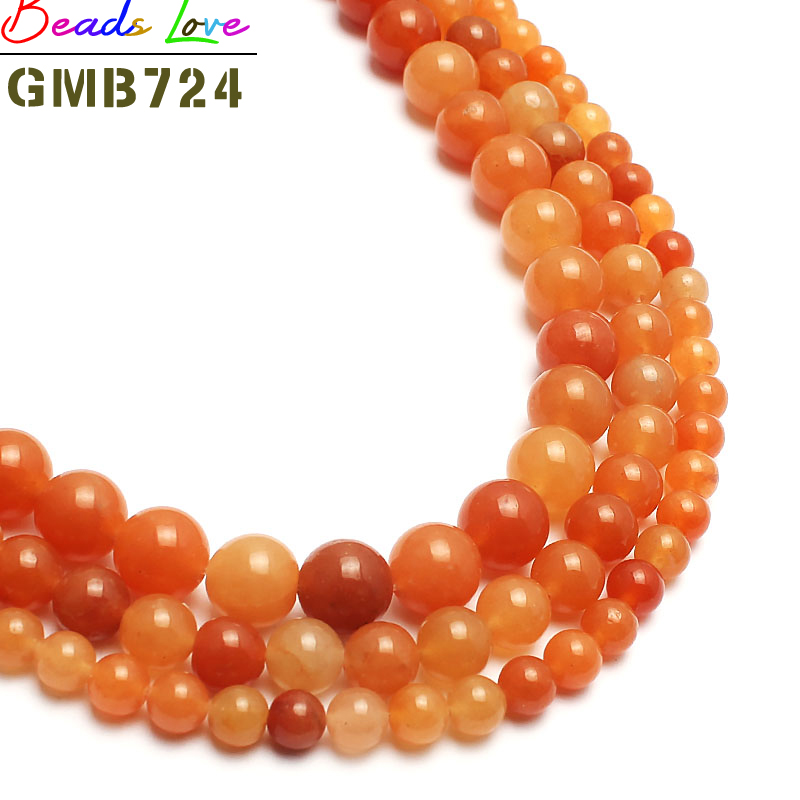 Jewelry & Accessories Natural Red Aventurine Quartz Stone Beads For Jewelry Making 15inch 4/6/8/10mm Spacer Round Beads Making Bracelet Sale Price