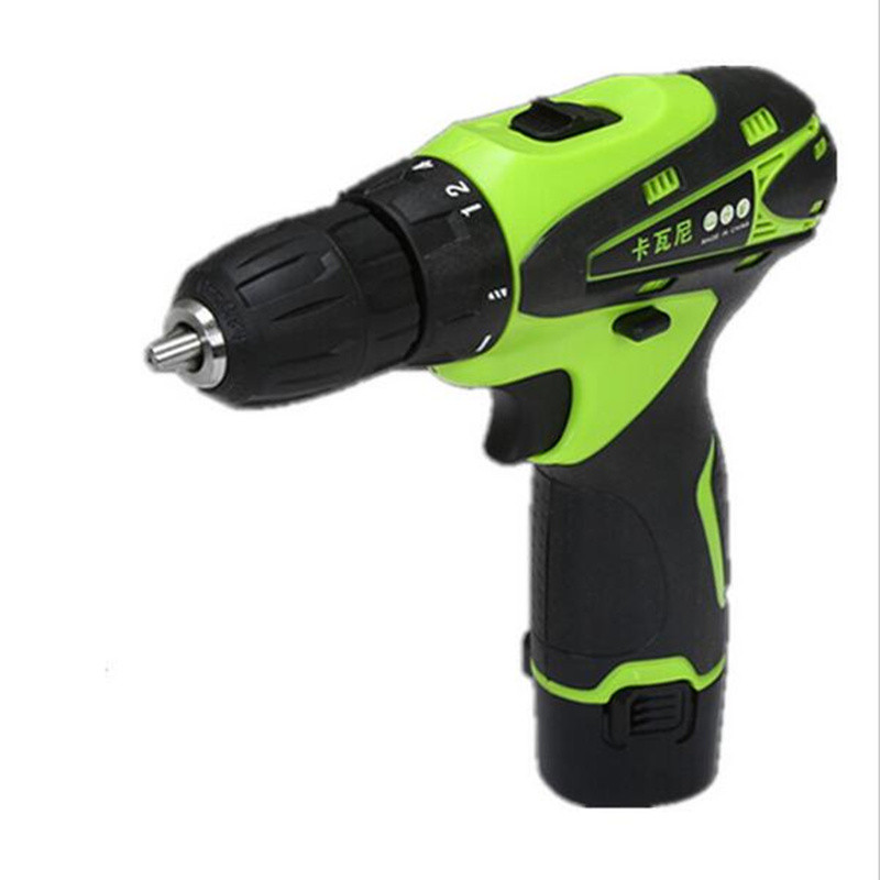 12v Two Speed Rechargeable Lithium Battery Waterproof Hand Drill Electric Drill with Charger Electric screwdriver power tool set