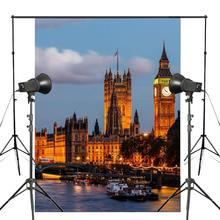 150x220cm UK Big Ben Night View Photography Background London Architecture Backdrop Landscape Studio Background Props Wall