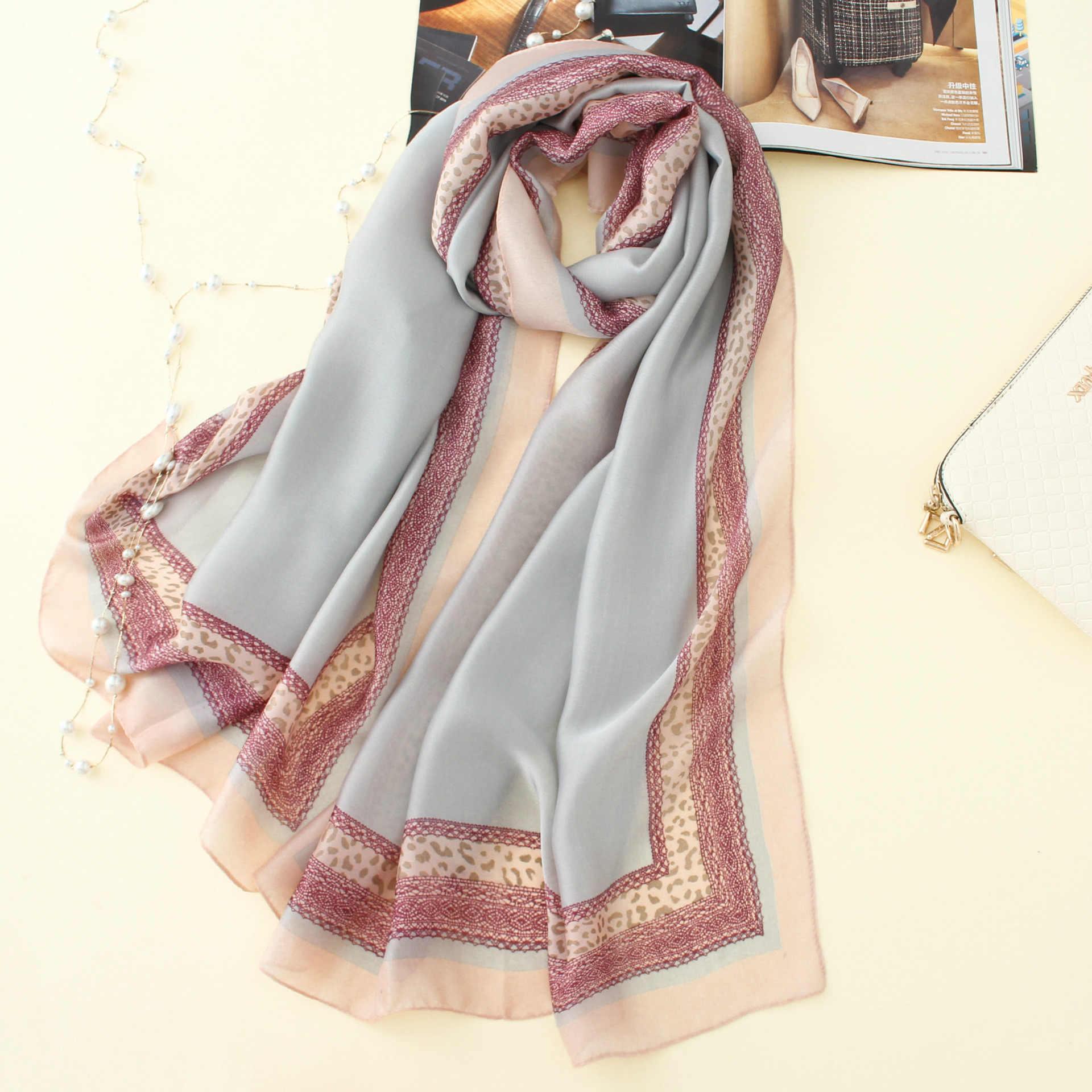 2020 nuove donne di marca sciarpa di estate di modo di stampa morbido formato lungo scialli sciarpe di seta della signora pashmina bandane 190*80cm