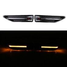 1 par de coches de estilo de lujo señal de vuelta LED lámpara guardabarros luz lateral para KIA RIO K2 sedán Hatchback 2012 2013 2014 2015 2016