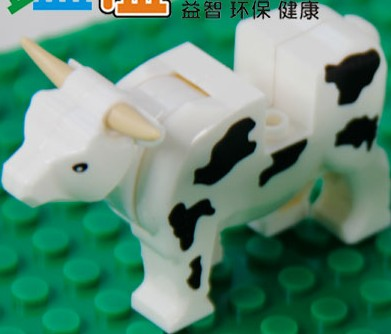 Free Shipping!*Cow* DIY enlighten block bricks,Compatible With Lego Assembles Particles