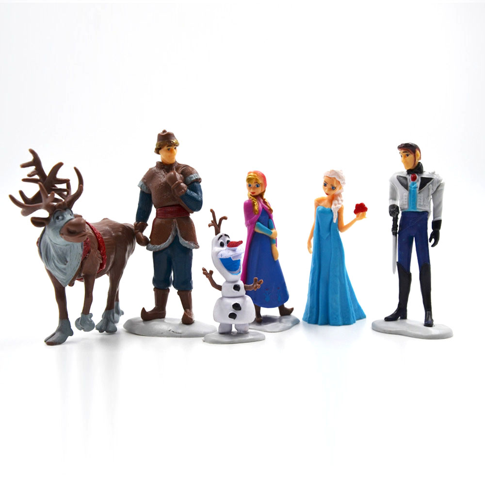 Toys & Hobbies Disney Products New Arrival Fashion Brand Kids Toys Plastic Cartoon Frozen Action Figures Kids Gift Anime Toys Ty060