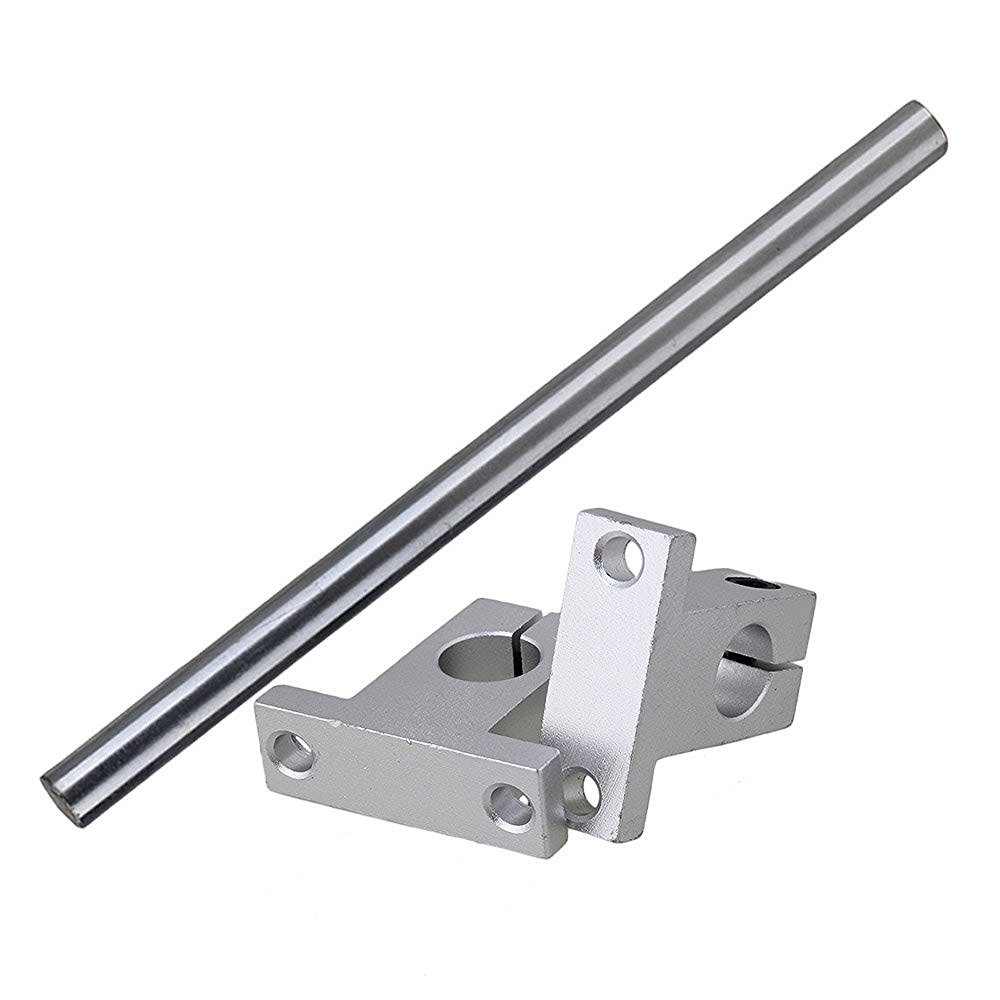 Silver 12MM Dia Cylinder Linear Shaft Optical Axis L200mm & CNC Ball Slide Units Linear Rail Support Set of 3 scv25uu slide linear bearings aluminum box type cylinder axis scv25 linear motion ball silide units cnc parts high quality
