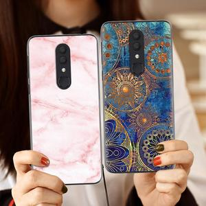 Image 5 - Shockproof Back Telefoon Cover Voor Alcatel 3 (2019) /5053 Cool Modieuze Ontwerp Soft Case Kleurrijke Painted TPU Silicone Cover