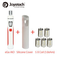 100 Authentic Joyetech EGo AIO Kit 2ml 1500mAh W SS316 BF Coil 1 0ohm 0 6ohm