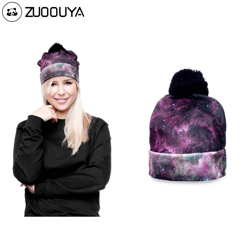 Hot Sale 3D Full Print Beanie Hat Women Man Panda Lion  Autumn Winter Cap Bobble Pompon Knitted Christmas Hats Gift