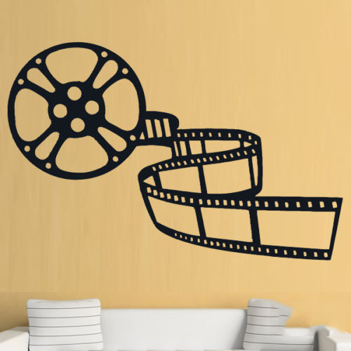 Cinema Film TV Living Room Family Wall Art Stickers Decals Vinyl ...