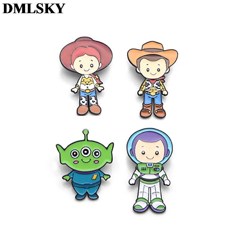 DMLSKY Cartoon Enamel Pins and Brooches Lapel Pin Backpack Bags Badge Clothing Decoration Gifts M3597