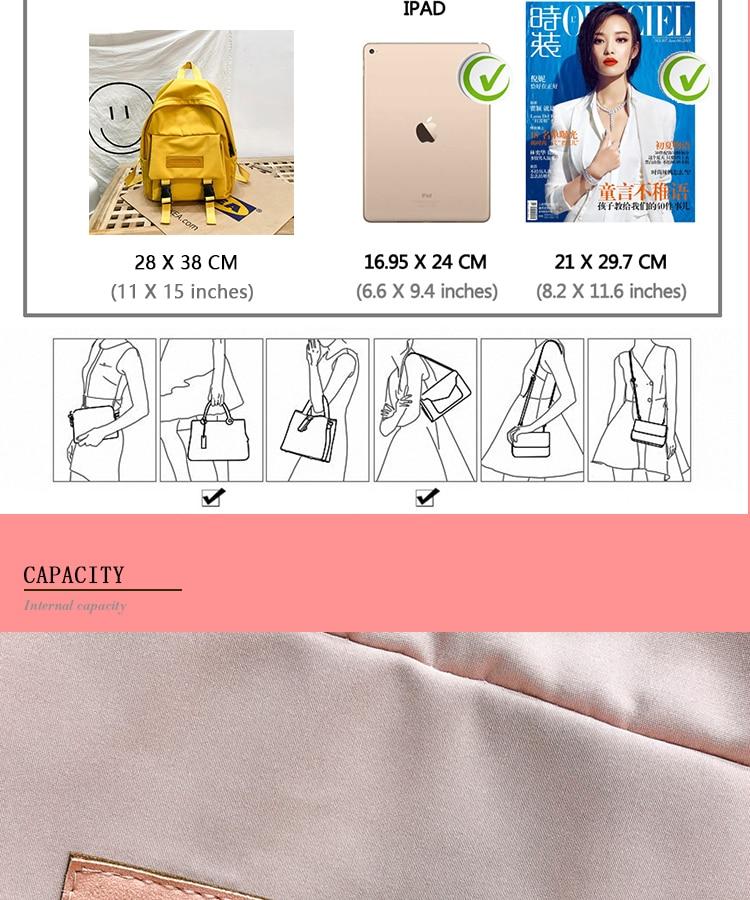 HTB170TbXBGw3KVjSZFwq6zQ2FXak 2019 Backpack Women Backpack Fashion Women Shoulder Bag solid color School Bag For Teenage Girl Children Backpacks Travel Bag