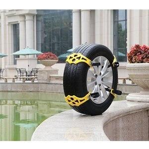 Image 3 - 8ピース/セット4ピース/セット車タイヤ冬道路安全タイヤ雪調節可能なアンチスキッド安全ダブルスナップスキッドホイールtpuチェーン