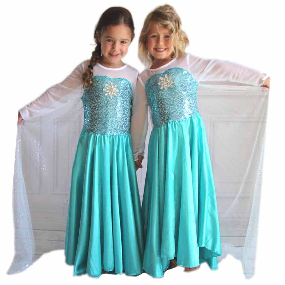HTB170TjXJfvK1RjSspfq6zzXFXaR Tiange Wedding Elsa Anna Dress Girls Costume Cute Party Princess Cosplay Baby Dresses Children's Christmas Birthday Set Clothes