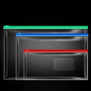 Image 1 - Ensemble de sacs de papeterie A4/A5/A6, sacs transparents en PVC de haute qualité, sac à bords transparents de bureau et fournitures scolaires pour les données sur les factures
