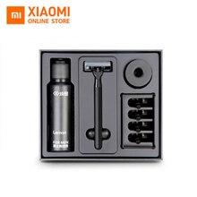 Оригинальный Новый бренд Xiaomi 8 in1 A наборы для ухода за кожей для мужчин бритвы лимонный аромат 7 в 1 Магнитная заменить клип Best под