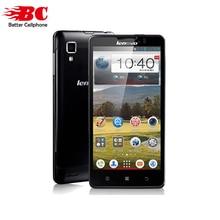 """Оригинальный Lenovo P780 сотовые телефоны MTK6589 4 ядра 5 """"1280×720 Android 4.4 Горилла Glass1280x720 1 ГБ Оперативная память 8.0MP 4000 мАч Батарея"""