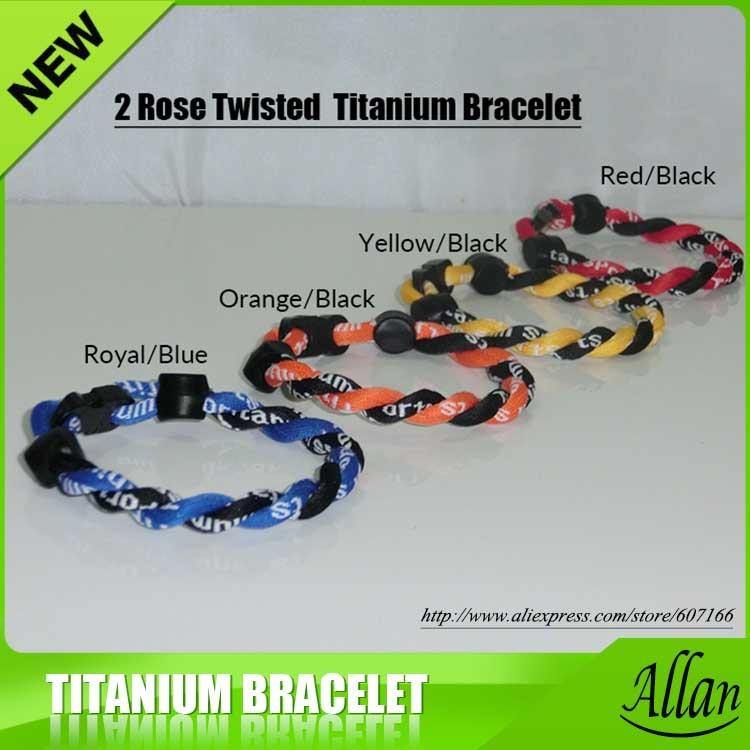 "8/"" TITANIUM SPORTS TORNADO TWISTED BRACELET USA SELLER*"