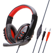 E-Sports Game Headphones Wearing a Bass Headsets Computer Headset 3.5mm Wired Stereo Music Bass Headphones Hands-free with Mic цена