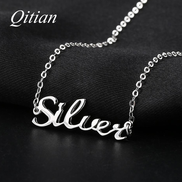 867da9feb71be Aliexpress.com : Buy 925 Sterling Silver Name Necklace Custom Old English  Arabic Necklaces For Women DIY Personalized Jewelry Etsy Dropshipping from  ...