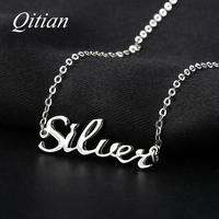 925 Sterling Silver Name Necklace Custom Old English Arabic Necklaces For Women DIY Personalized Jewelry Etsy