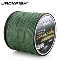 JACKFISH 500 m 8 hebra más suave PE línea de pesca trenzada 10-80LB multifilamento línea de pesca Pesca de agua salada con regalo