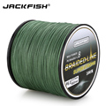 JACKFISH 500M 8 strand Smoother PE Braided Fishing Line 10-80LB Multifilament Fishing Line Carp Fishing Saltwater with gift
