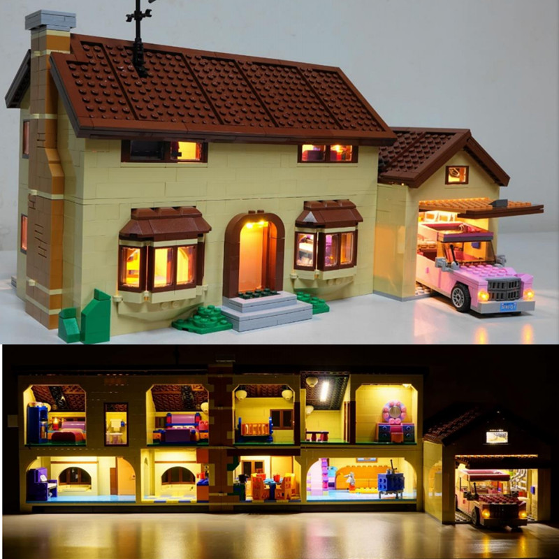 LED Light Kit only light included for 71006 Compatible with 16005 Simpson s house blocks building