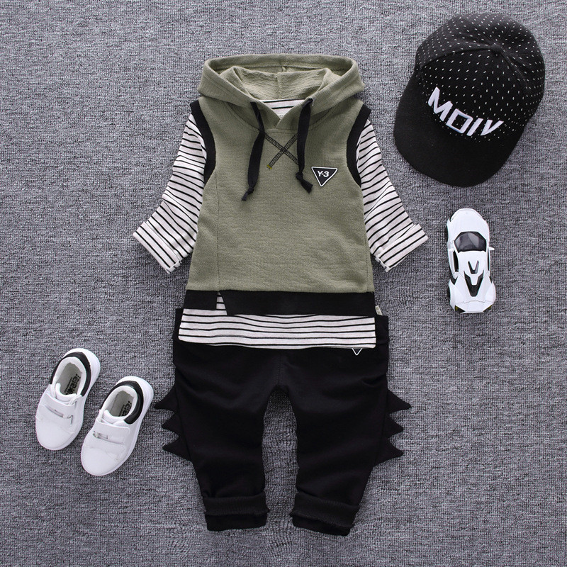 2017 Spring Autumn Boy Girls Set Children Clothing Cotton Girls Hooded Pullover Vest Clothing Sets Casual Fashion 3 pieces Sets 2017 spring autumn children girls set new brand fashion solid shirts cotton pants 2 pieces suits casual kids clothing sets hot