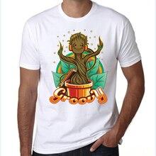 mens groot t shirts Guardians of the Galaxy I AM GROOT Adult T shirt Men T