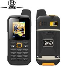 Clavier russe IP67 étanche antichoc mobile support Téléphonique Interphone lampe de poche FM Double SIM PTT cellulaire téléphones guophone v1