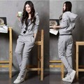 2017 new women Autumn Spring suit  Hoodies and pants Coat Ladies casual sweatshirt suit long-sleeved Free shipping