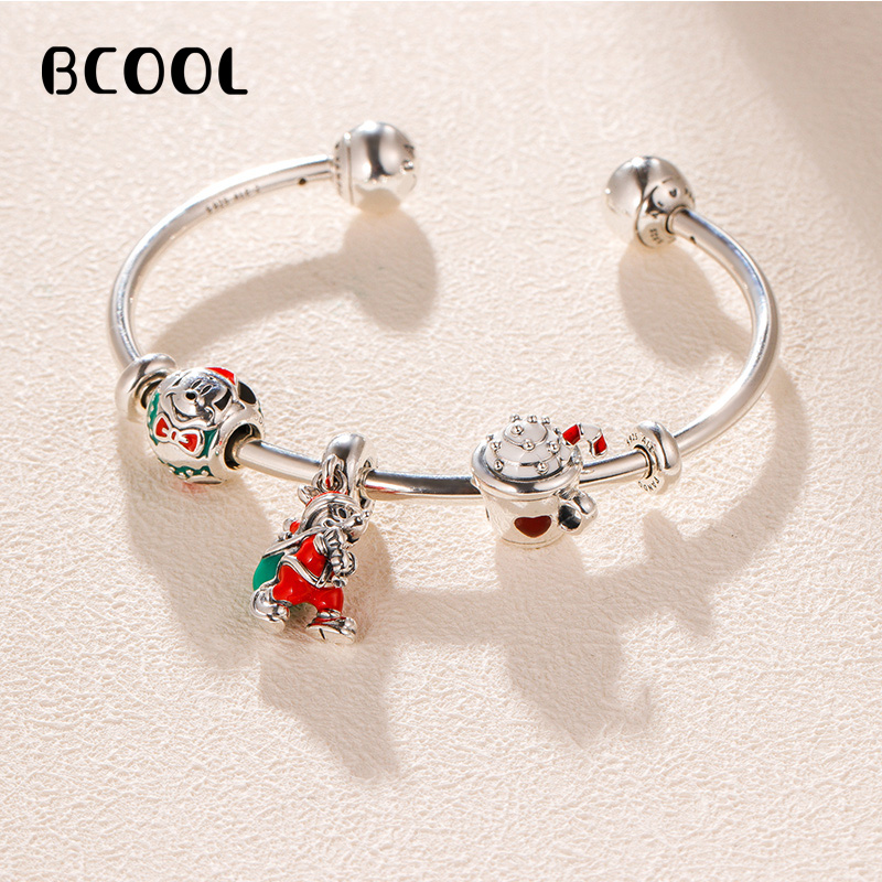 DIY Jewelry Female Charm Fashion Silver 925 Original Bracelet Suitable for Female Christmas Series Jewelry GiftsDIY Jewelry Female Charm Fashion Silver 925 Original Bracelet Suitable for Female Christmas Series Jewelry Gifts