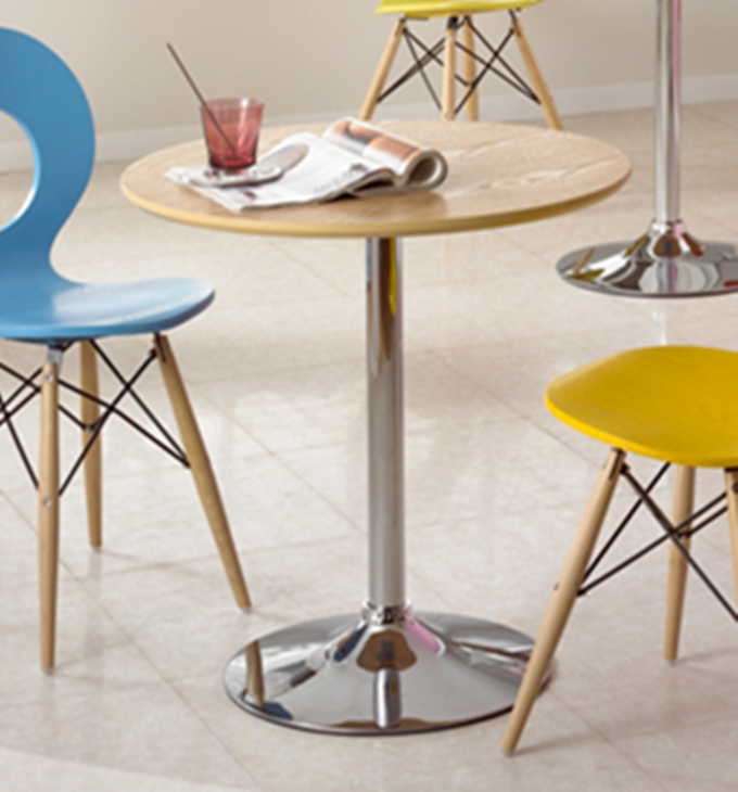 Simple small round table negotiating tables and chairs for Coffee dining table combo