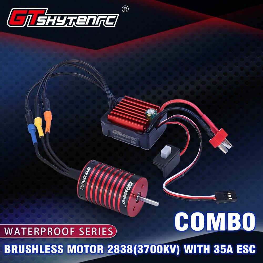 2019 New GTSKYTENRC Combo 2838 3700KV 4700KV Brushless Motor W/ 35A ESC For Traxxas HSP Tamiya Axial 1/16 1/12 RC Car
